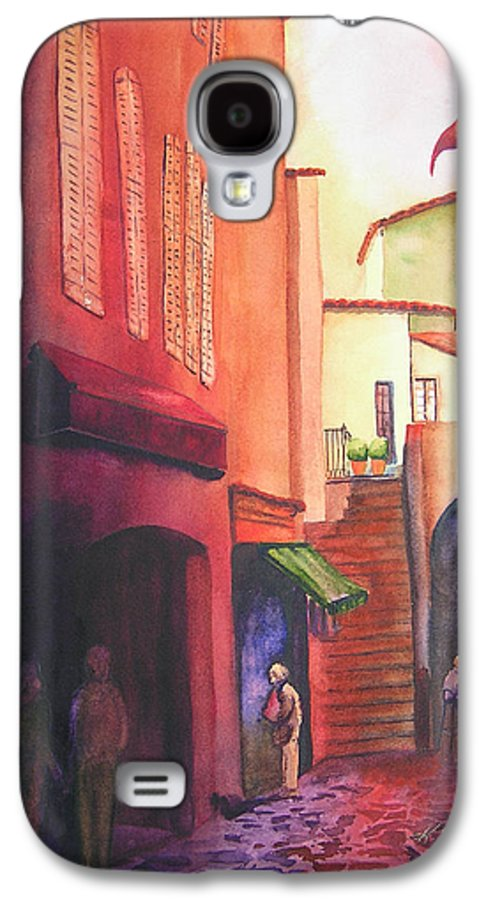 Europe Galaxy S4 Case featuring the painting Flag Over St. Tropez by Karen Stark