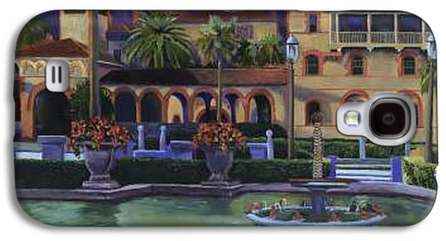 St. Augustine\'s Flagler College Campus Galaxy S4 Case featuring the painting Flagler College II by Christine Cousart