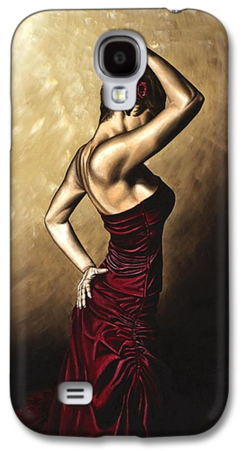 Flamenco Galaxy S4 Case featuring the painting Flamenco Woman by Richard Young