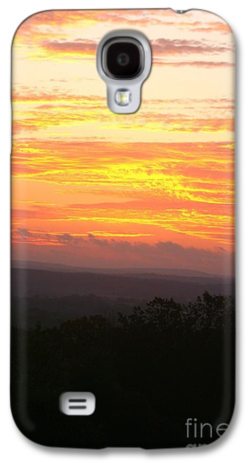 Sunrise Galaxy S4 Case featuring the photograph Flaming Autumn Sunrise by Nadine Rippelmeyer
