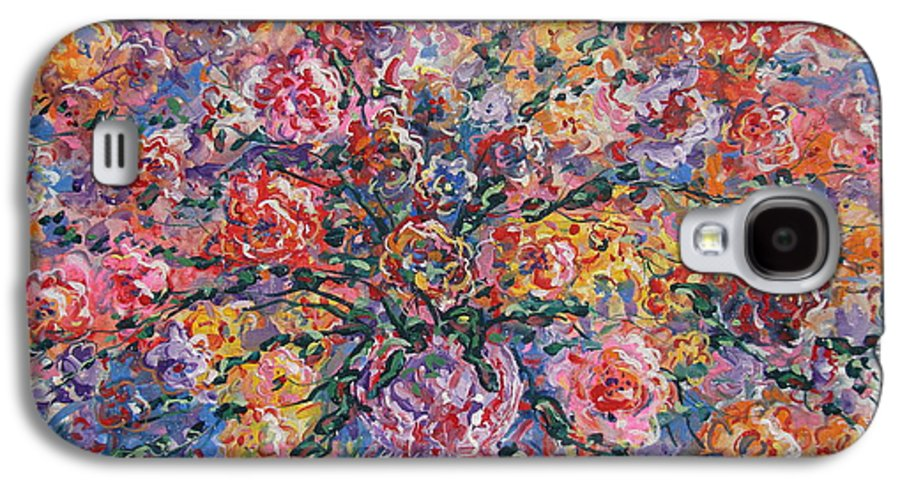 Painting Galaxy S4 Case featuring the painting Floral Melody by Leonard Holland