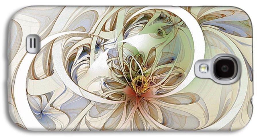 Digital Art Galaxy S4 Case featuring the digital art Floral Swirls by Amanda Moore