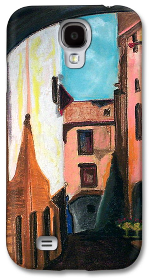 Pastel Galaxy S4 Case featuring the drawing Florence Cove by Patricia Arroyo