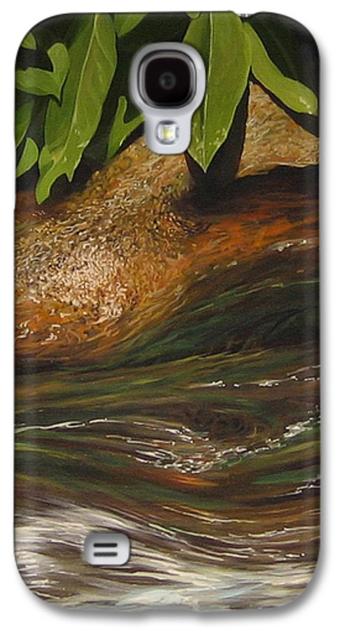 Colorado Mountain Stream Galaxy S4 Case featuring the painting Flow by Hunter Jay
