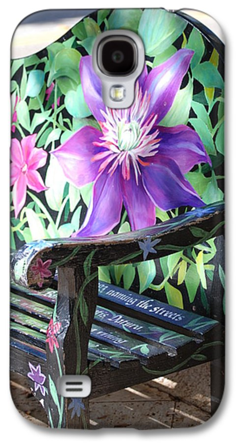 Macro Galaxy S4 Case featuring the photograph Flower Bench by Rob Hans