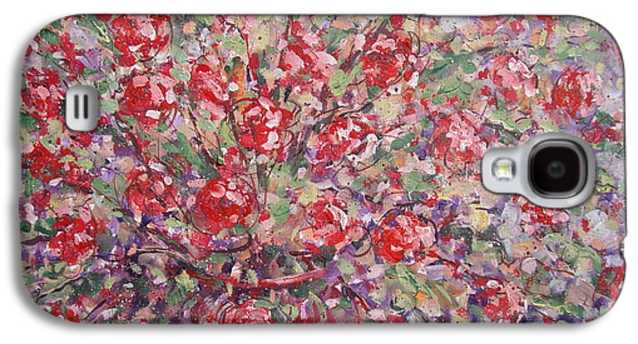 Painting Galaxy S4 Case featuring the painting Flower Feelings. by Leonard Holland