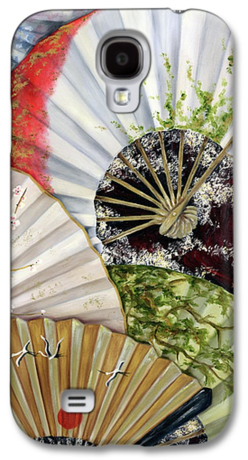 Japanese Galaxy S4 Case featuring the painting Flower Garden by Hiroko Sakai