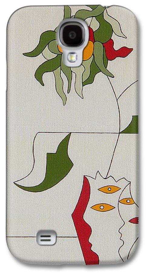 Flower Modern Constructivisme Special Original Galaxy S4 Case featuring the painting Flower by Hildegarde Handsaeme