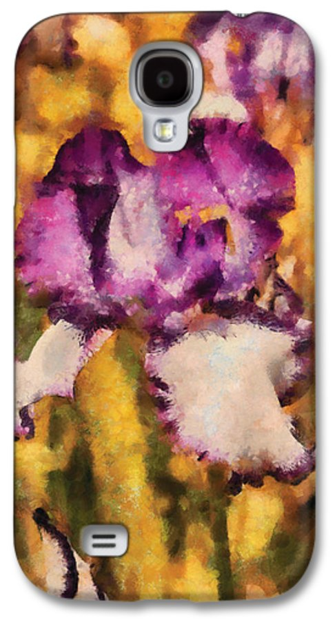 Abstract Galaxy S4 Case featuring the photograph Flower - Iris - Diafragma Violeta by Mike Savad