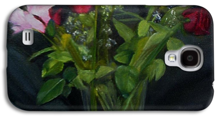 Flowers Galaxy S4 Case featuring the painting Flowers For Sarah by Sheila Mashaw