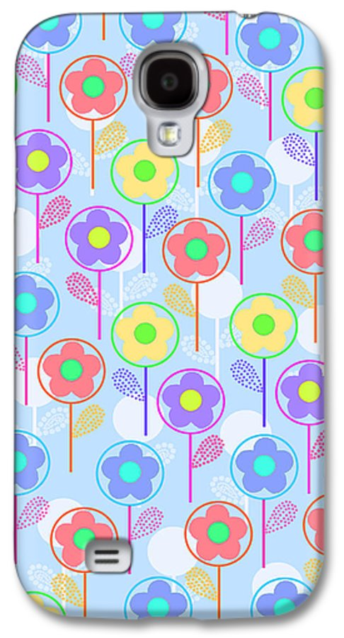 Digital Galaxy S4 Case featuring the digital art Flowers by Louisa Knight