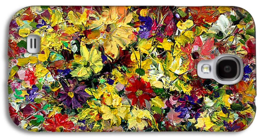Flowers Galaxy S4 Case featuring the painting Flowers by Mario Zampedroni