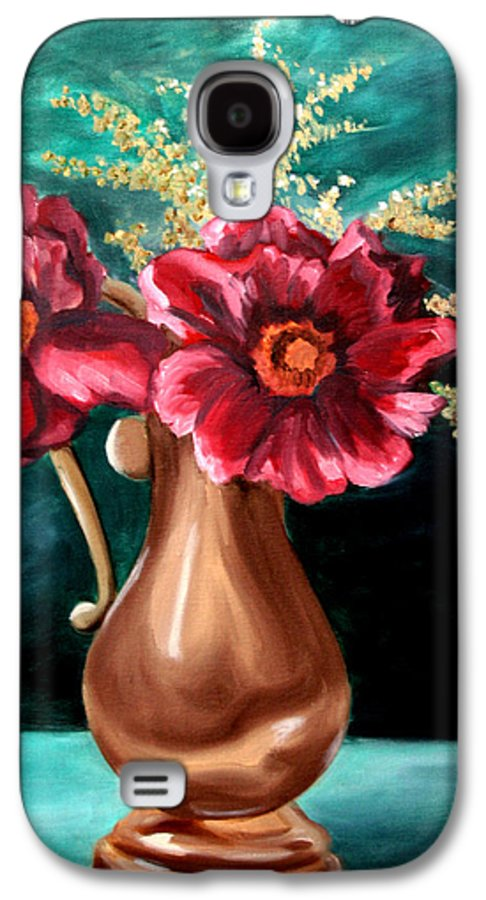 Flower Galaxy S4 Case featuring the painting Flowers by Maryn Crawford