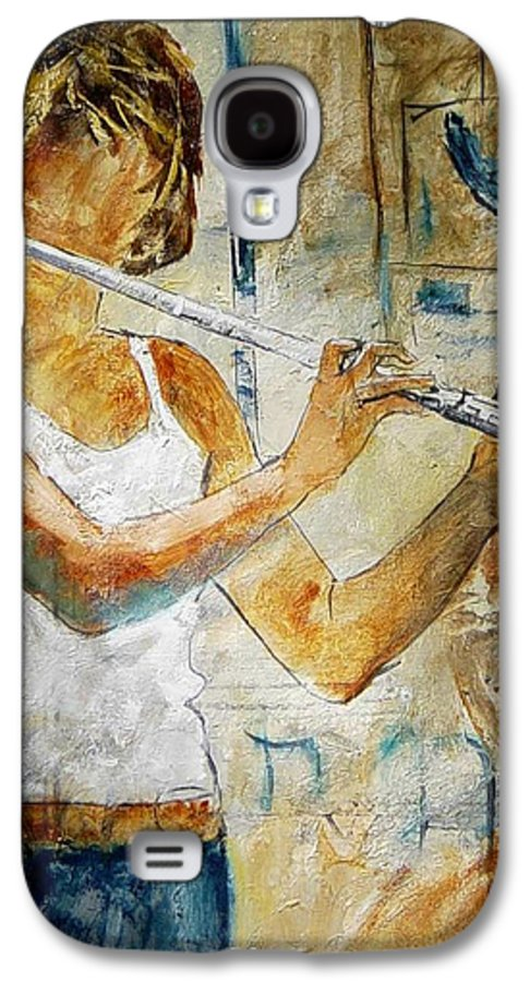 Music Galaxy S4 Case featuring the painting Flutist by Pol Ledent