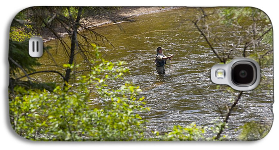 Fishing Galaxy S4 Case featuring the photograph Fly Fishing by Louise Magno
