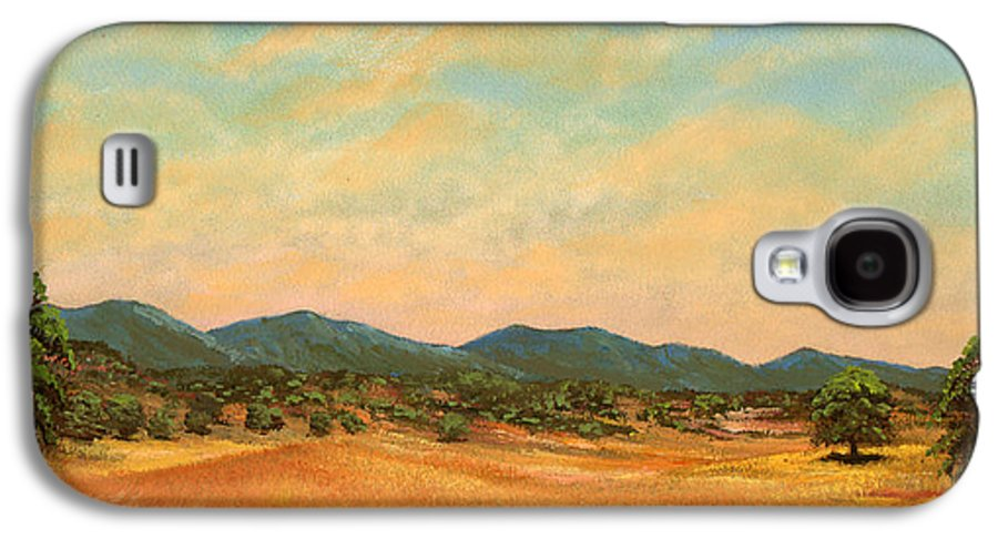 Landscape Galaxy S4 Case featuring the painting Foothills by Frank Wilson