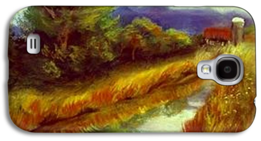 Landscape Galaxy S4 Case featuring the painting For A Thirsty Land by Gail Kirtz