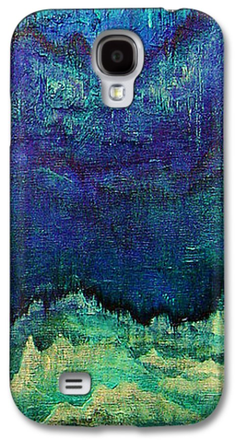 Blue Galaxy S4 Case featuring the painting For Linda by Shadia Derbyshire