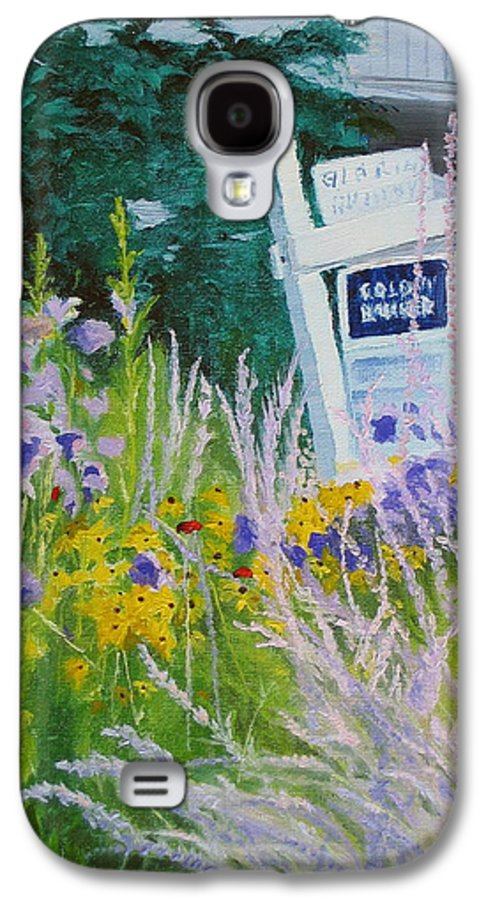 Landscape Galaxy S4 Case featuring the painting For Sale - A Patch Of Paradise by Lea Novak