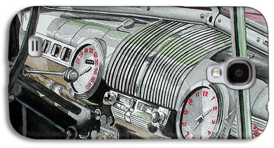 Car Galaxy S4 Case featuring the painting Ford Dash by Ferrel Cordle