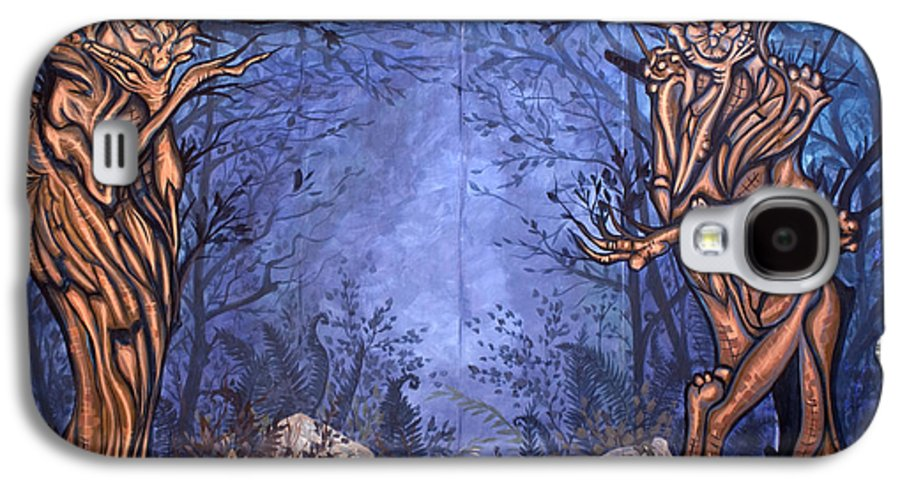 Mystic Galaxy S4 Case featuring the painting Forest by Judy Henninger