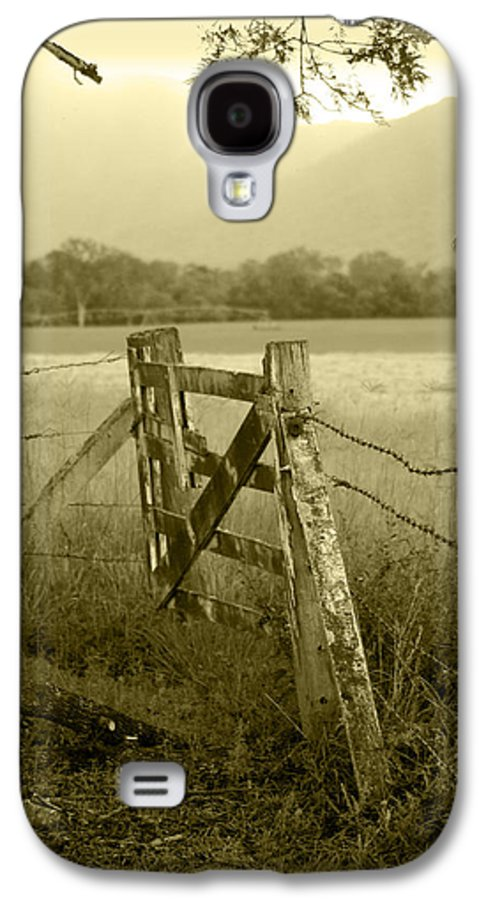 Gate Galaxy S4 Case featuring the photograph Forgotten Fields by Holly Kempe