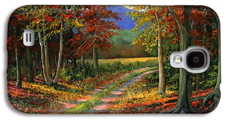 Landscape Galaxy S4 Case featuring the painting Forgotten Road by Frank Wilson