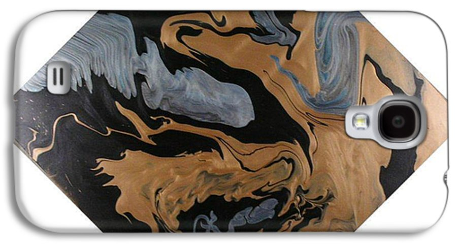 Abstract Galaxy S4 Case featuring the painting Fossil by Patrick Mock