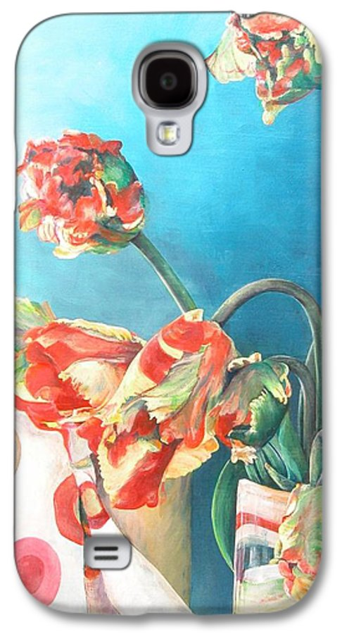 Still Life Galaxy S4 Case featuring the painting Foulard by Muriel Dolemieux