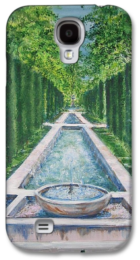 Fountain Galaxy S4 Case featuring the painting Fountain Palma De Mallorca Capital by Lizzy Forrester