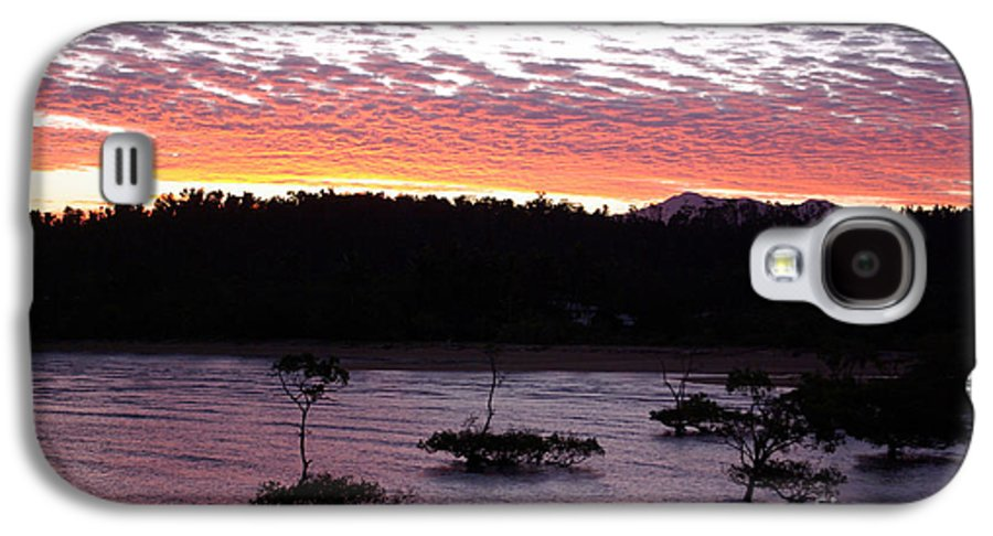 Landscape Galaxy S4 Case featuring the photograph Four Elements Sunset Sequence 8 Coconuts Qld by Kerryn Madsen - Pietsch