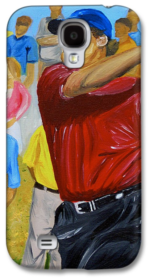 Golf Galaxy S4 Case featuring the painting Four by Michael Lee