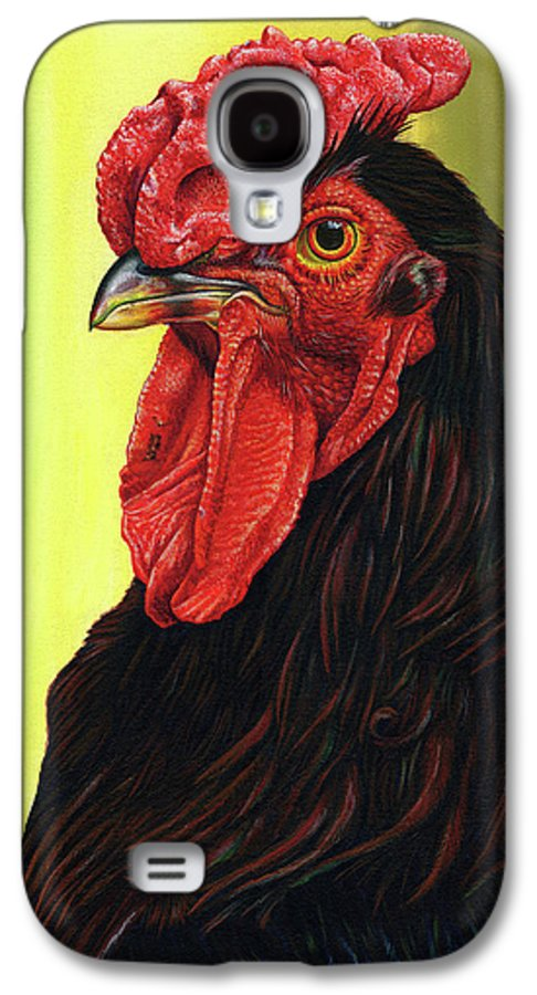 Rhode Galaxy S4 Case featuring the painting Fowl Emperor by Cara Bevan
