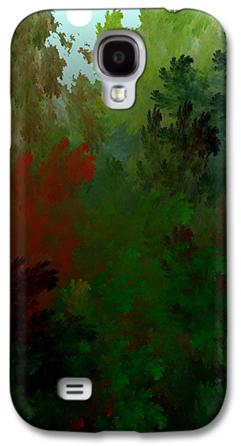Abstract Digital Painting Galaxy S4 Case featuring the digital art Fractal Landscape 11-21-09 by David Lane
