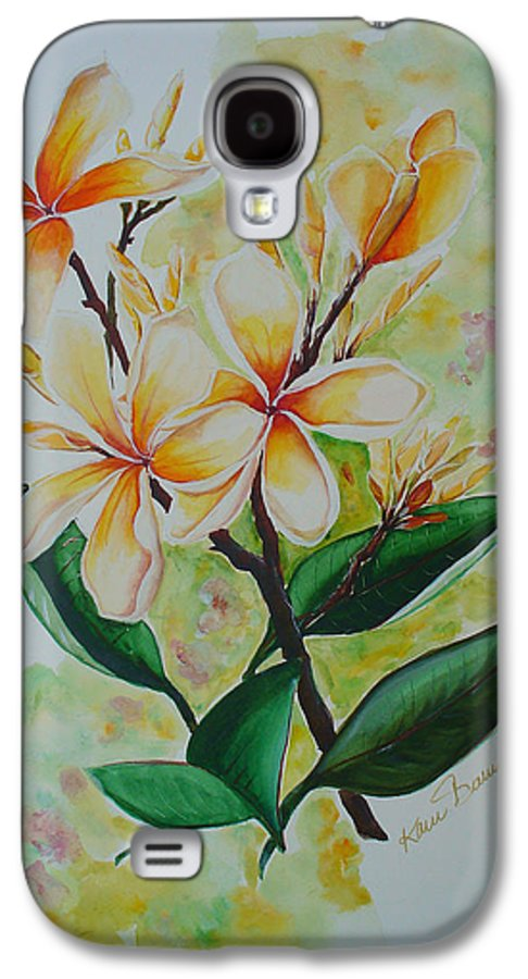 Galaxy S4 Case featuring the painting Frangipangi by Karin Dawn Kelshall- Best