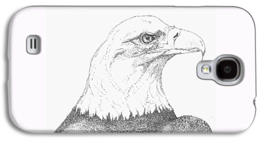 Eagle Galaxy S4 Case featuring the drawing Freedom by Debra Sandstrom