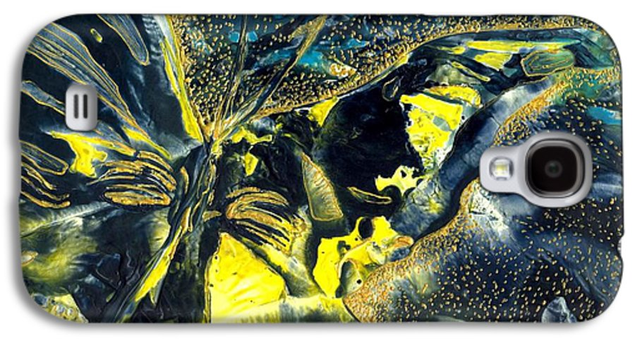 Butterfly Galaxy S4 Case featuring the painting Freedom For Margot by Heather Hennick
