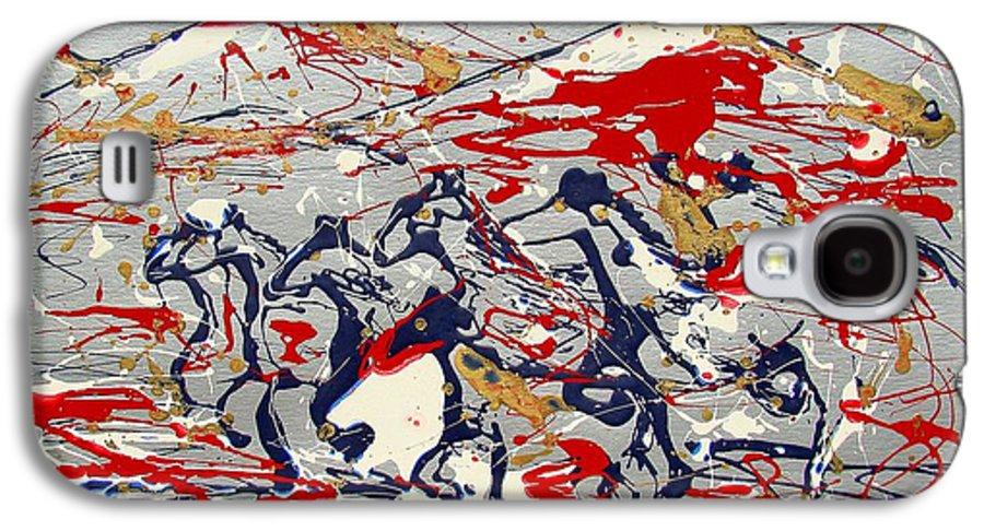 Freedom On The Open Range Galaxy S4 Case featuring the painting Freedom On The Open Range by J R Seymour