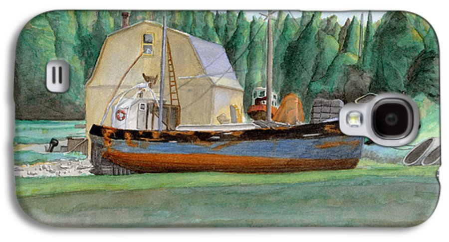 Fishing Boat Galaxy S4 Case featuring the painting Freeport Fishing Boat by Dominic White