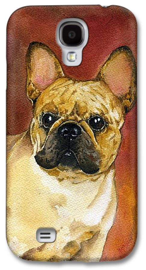 French Bulldog Galaxy S4 Case featuring the painting French Bulldog by Kathleen Sepulveda