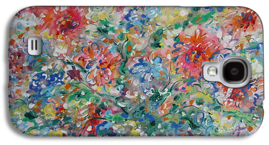 Flowers Galaxy S4 Case featuring the painting Fresh Bouquet by Leonard Holland