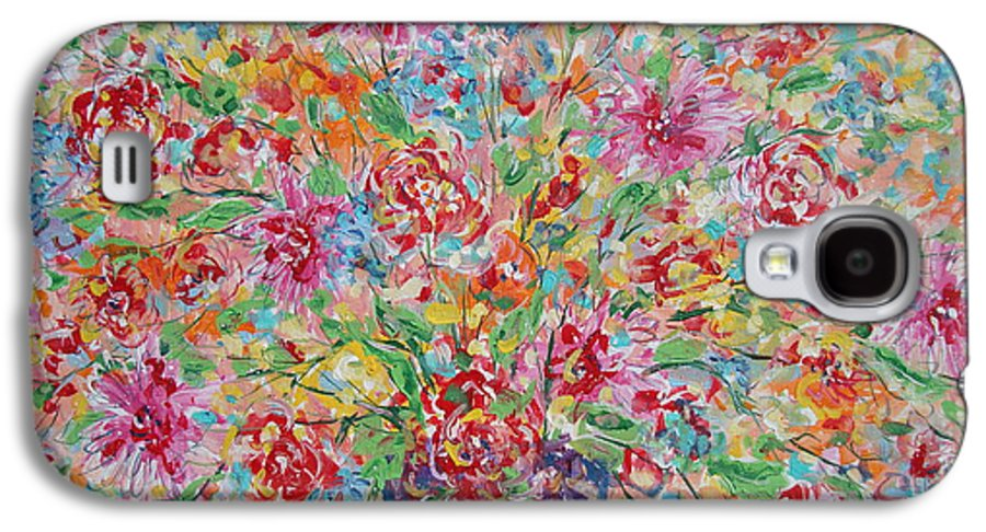 Painting Galaxy S4 Case featuring the painting Fresh Flowers. by Leonard Holland