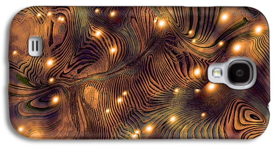 Abstract Digital Art Painting Brown Gold Freshwater Fish Lights Texture Galaxy S4 Case featuring the painting Freshwater by Susan Epps Oliver