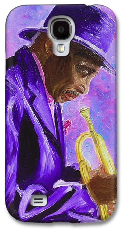 Street Musician Trumpet Player Galaxy S4 Case featuring the painting From The Soul by Michael Lee