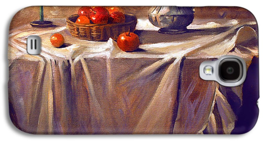 Still Life Galaxy S4 Case featuring the painting Fruit By Candle Light by Nancy Griswold