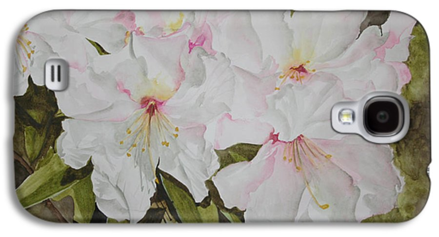 Flowers Galaxy S4 Case featuring the painting Full Bloom by Jean Blackmer