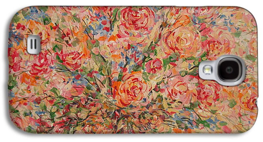 Flowers Galaxy S4 Case featuring the painting Full Bouquet. by Leonard Holland