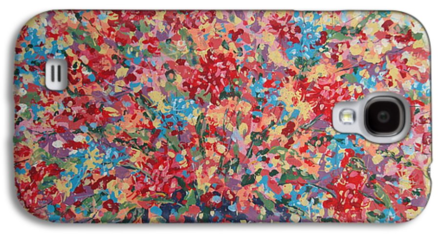 Flowers Galaxy S4 Case featuring the painting Full Flower Bouquet. by Leonard Holland