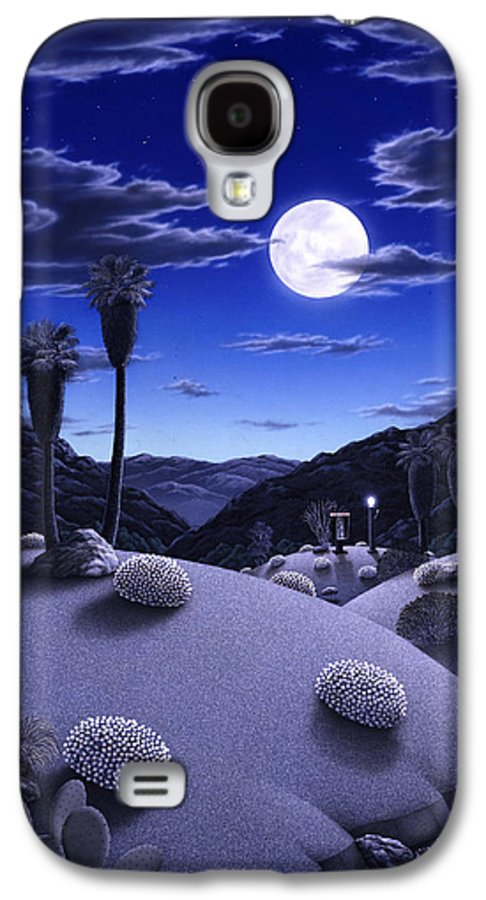 Desert Galaxy S4 Case featuring the painting Full Moon Rising by Snake Jagger