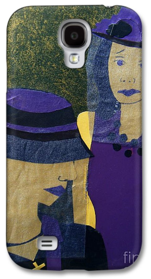 Purple Galaxy S4 Case featuring the mixed media Funeral Masks by Debra Bretton Robinson
